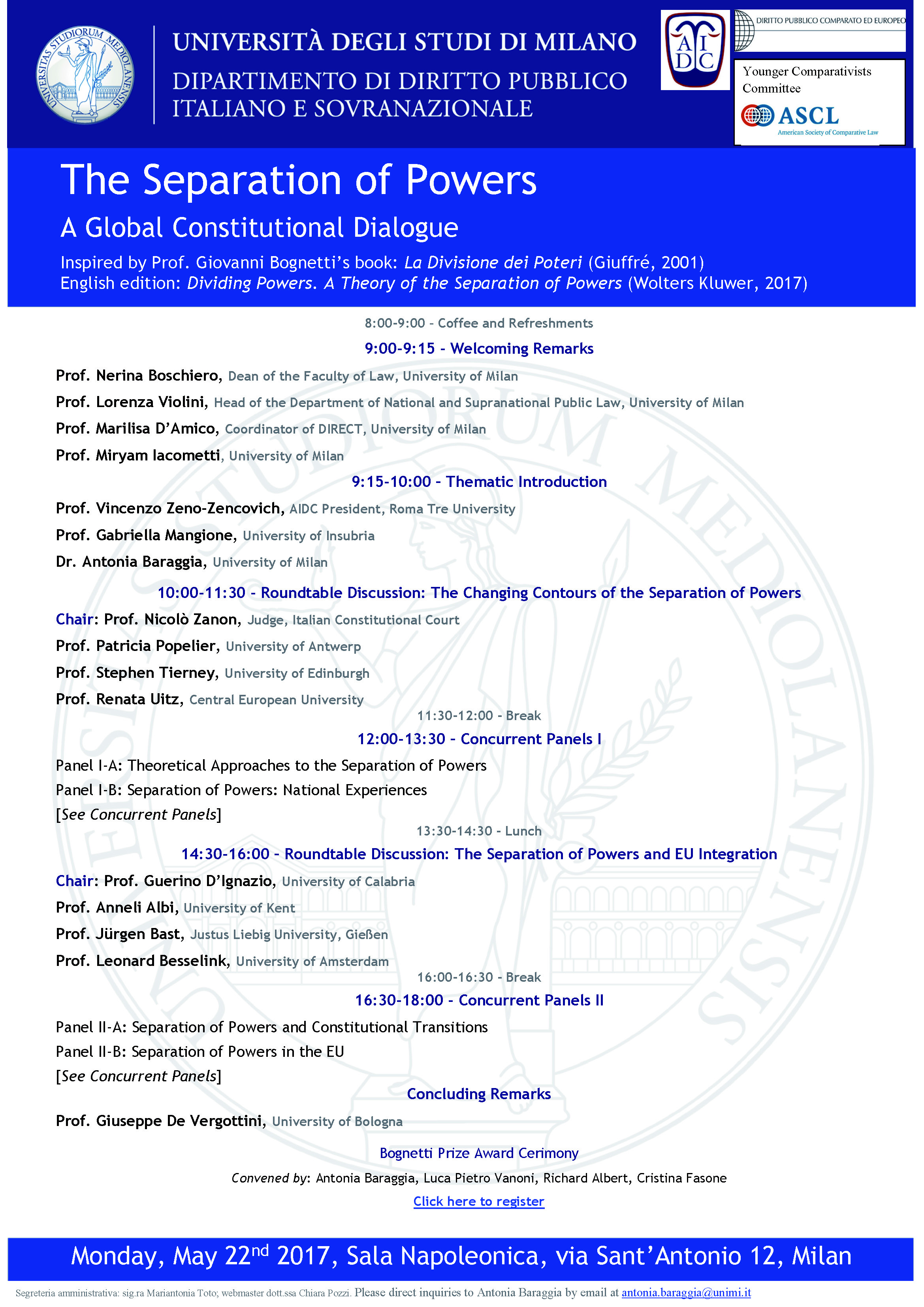 """I·CONnect – Conference On """"The Separation Of Powers A Global"""